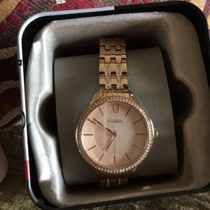 NWT in box fossil ladies watch